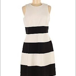 Ann Taylor Factory classic  dress striped 8P